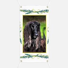 Afghan Hound Dog Christmas Banner