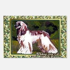 Afghan Hound Dog Christma Postcards (Package of 8)
