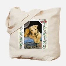 Airedale Terrier Dog Christmas Tote Bag