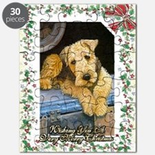 Airedale Terrier Dog Christmas Puzzle