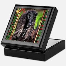 Afghan Hound Dog Christmas Keepsake Box
