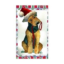 Airedale Terrier Dog Christmas Decal