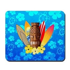 Tiki And Surfboards Mousepad
