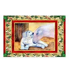 Akbash Dog Christmas Postcards (Package of 8)