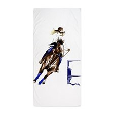 Barrel Horses Beach Towel