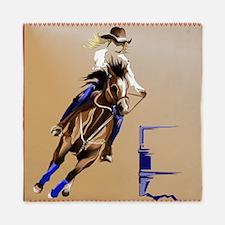 Barrel Horses Queen Duvet