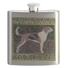 American Foxhound Dog Christmas Flask