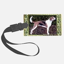 American Foxhound Dog Christmas Luggage Tag