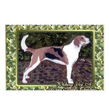 American Foxhound Dog Chr Postcards (Package of 8)