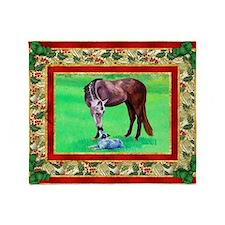 Australian Cattle Dog Christmas Throw Blanket