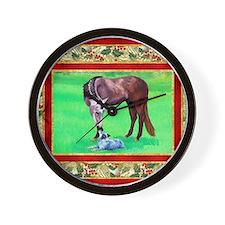 Australian Cattle Dog Christmas Wall Clock