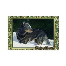 Australian Cattle Dog Christmas Rectangle Magnet