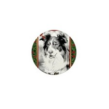 Australian Shepherd Christmas Mini Button