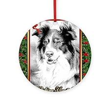Australian Shepherd Christmas Round Ornament