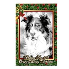 Australian Shepherd Chris Postcards (Package of 8)