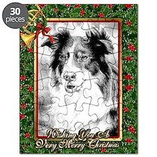 Australian Shepherd Christmas Puzzle