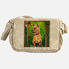 Australian Terrier Dog Christmas Messenger Bag