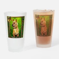 Australian Terrier Dog Christmas Drinking Glass