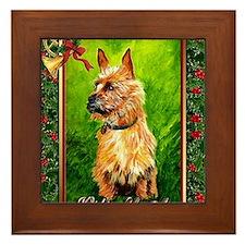 Australian Terrier Dog Christmas Framed Tile