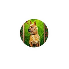 Australian Terrier Dog Christmas Mini Button