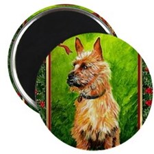 Australian Terrier Dog Christmas Magnet