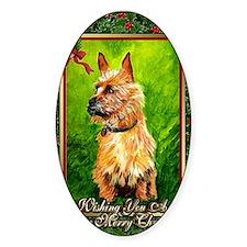 Australian Terrier Dog Christmas Decal