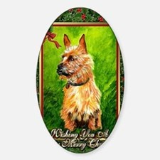 Australian Terrier Dog Christmas Decal