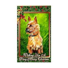 Australian Terrier Dog Christm Decal