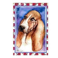 Basset Hound Dog Christma Postcards (Package of 8)
