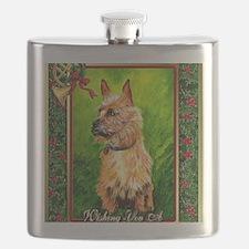 Australian Terrier Dog Christmas Flask