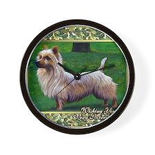 Australian Terrier Dog Christmas Wall Clock