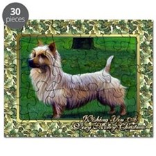 Australian Terrier Dog Christmas Puzzle
