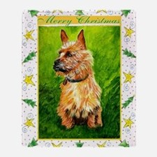 Australian Terrier Dog Christmas Throw Blanket
