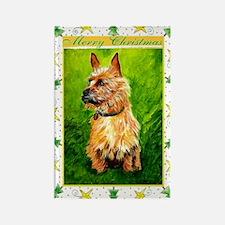 Australian Terrier Dog Christmas Rectangle Magnet