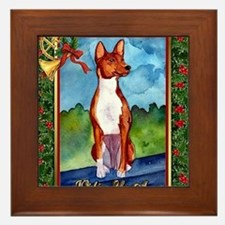 Basenji Dog Christmas Framed Tile
