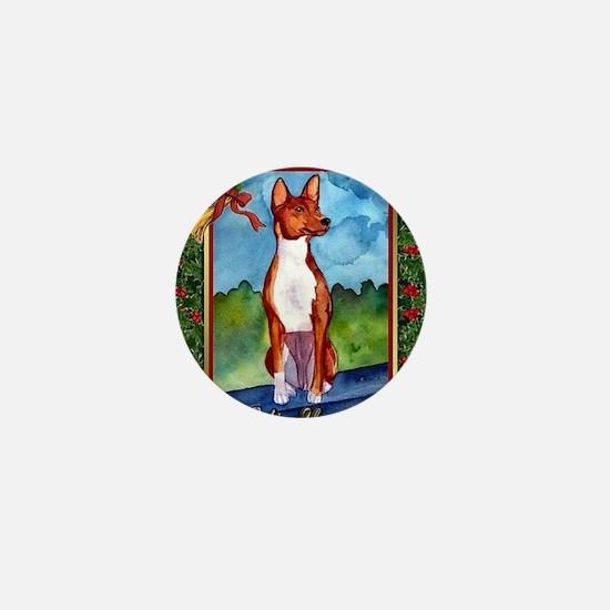 Basenji Dog Christmas Mini Button