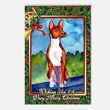 Basenji Dog Christmas Postcards (Package of 8)