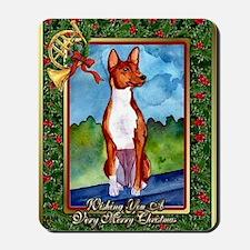 Basenji Dog Christmas Mousepad
