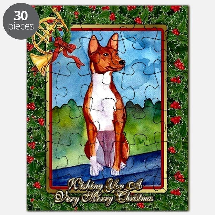 Basenji Dog Christmas Puzzle