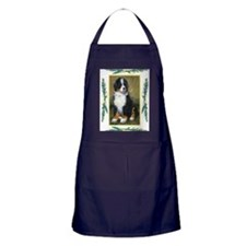 Bernese Mountain Dog Christmas Apron (dark)