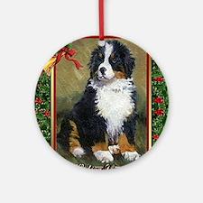 Bernese Mountain Dog Christmas Round Ornament