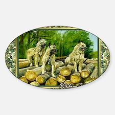 Belgian Laekenois Dog Christmas Sticker (Oval)