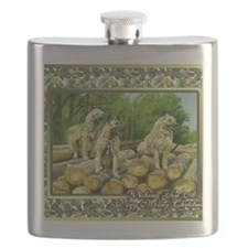 Belgian Laekenois Dog Christmas Flask