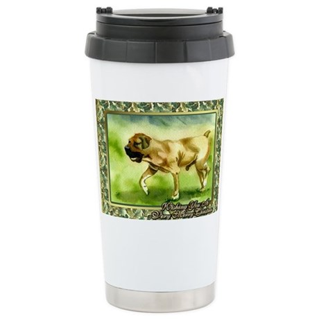 Boerboel Dog Christmas Stainless Steel Travel Mug