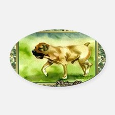 Boerboel Dog Christmas Oval Car Magnet