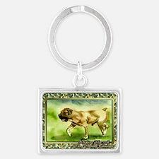 Boerboel Dog Christmas Landscape Keychain