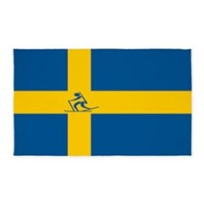 Team Biathlon Sweden 3'x5' Area Rug