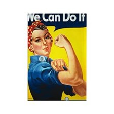 Rosie the Riviter We Can Do It Rectangle Magnet