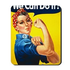 Rosie the Riviter We Can Do It Mousepad