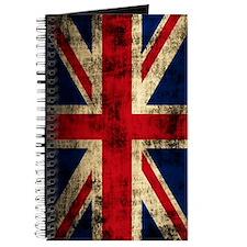 Union Jack Grunge Distressed Journal